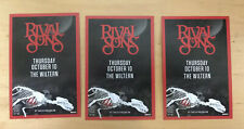 Rival Sons oct 10 2019 (3 handbills) wiltern Los Angeles