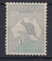 K891) Australia 1915 1/- Green Kangaroo second watermark BW 31