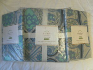 NEW AUTH POTTERY BARN ALINA DUVET COVER KING CAL KING 108X92  INCHS /2 STANDARD
