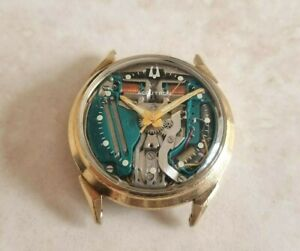 Bulova Accutron Spaceview 14K Gold Plated Watch, 1977