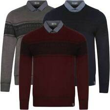 Acrylic Collared Medium Knit Jumpers for Men