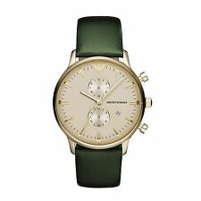 Emporio Armani Classic Watch Green/Gold Quartz Analog Men's Watch AR1722