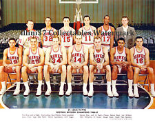1960-61 ST. LOUIS HAWKS 8X10 TEAM PHOTO PETTIT WILKENS HAGAN LOVELLETTE