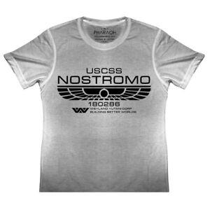 KIDS Aliens Nostromo Crew Member Logo T Shirt Xenomorph Boys Girls Movie LV426