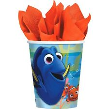 FINDING DORY 9oz PAPER CUPS (8) ~ Birthday Party Supplies Beverage Drinking Blue