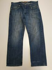 M565 MENS WRANGLER FADED BLUE SLIM STRAIGHT LEG DENIM JEANS W36-38 L30-32