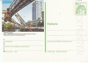 P 130 Bildpostkarte Imprimer Échantillon Wuppertal Schwebebahn