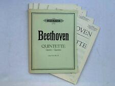 Noten. Beethoven. Quintette. Op. 29, 4, 104, 137.   Stimmen.