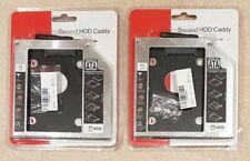 2x SATA Second Hard Drive HDD SSD Caddy