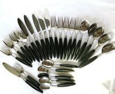 New listing 27pc 5 Place Settings Mid Century Formal Stainless Japan Black Composite Handle