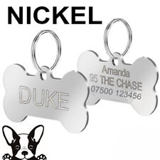 More details for engraved pet tags nickel dog cat id disc free p&p deep engraving name identity