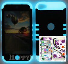 For Apple iPod Touch iTouch 5 | 6 - KoolKase Hybrid Cover Case Purple Flower 93
