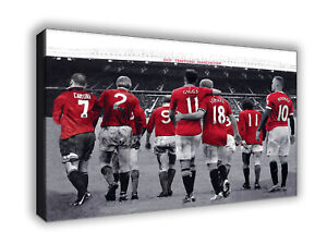 Manchester United Legends of Old Trafford Wall Canvas Print Picture  Wall Art