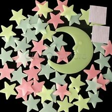 Colourful Glow In The Dark Star Wall Sticker Kid Bedroom Nursery Room Decor