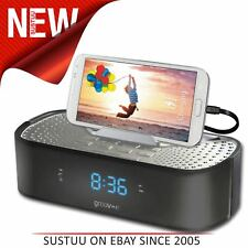 Groov-e timecurve Radio Sveglia con USB Caricatore Batteria - NERA gvsp406bk