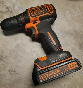 BLACK+DECKER BDCDD120C 20V MAX Lithium Single Speed Drill/Driver & BATTERY