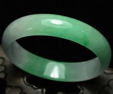 61mm Certified Natural Emerald Green Jadeite Jade Bangle Bracelet Handmade