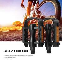 1Pair Metal Aluminium Alloy Bike Bicycle MTB Pair Pedals Multiple colours C3I4