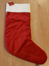"New Pottery Barn RED VELVET Christmas Holiday Stocking - Large 24 1/2"""