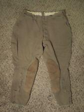 Vintage WWI US Army Breeches/Pants/Trousers Khaki Cotton
