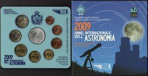 San Marino - Folder Monete divisionali fior di conio (Astronomia), 2009