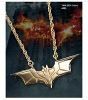 The DARK KNIGHT PENDANT Sterling Silver, Gold Plated NOBLE COLLECTION Batarang