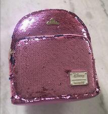 Sleeping Beauty Sequin Disney Loungefly Faux Leather Mini Backpack New WDBK0894