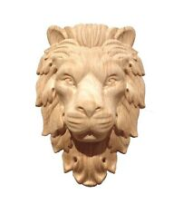 Lion Head Hand Carving Corbel / Applique.