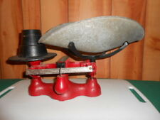 Antique Jacobs Cast Iron Balance Scale - No. 4 - w/ 3 Weights & Tray