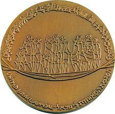 Large Vintage Jewish Israel Medal 1970 Keren Hayesod - Immigration Boat