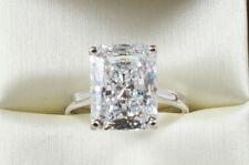7.20CT Radiant Brilliant Cut  VVS1 Engagement Wedding Solitaire Ring 14K W Gold