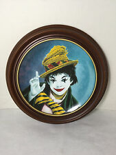 Judy Garland As Clown Collector Plate Celebrity Clowns Series #6114 Framed 1982
