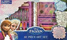 Disney Frozen 60-Piece Art Set - Paints Markers Crayons Pencils Oils-Brand New!