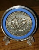 1893 HOBO USA MORGAN DOLLAR SPIDER MAN COIN WITH STAND! NM/MT BRAND NEW!