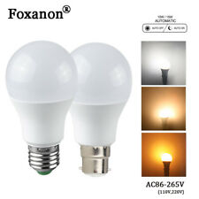 E27 B22 10W15W LED Lamp Bulb Infrared Auto ON/OFF Dusk to dawn Sensor Light Bulb