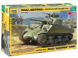 Zvezda 3702 Medium Tank M4A2 SHERMAN 75MM 1/35