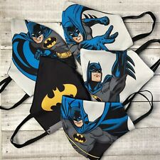 Face Mask Built-in Filter Washable Fabric Reversible Batman DC Superhero USA