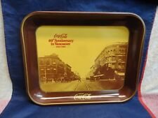 COCA-COLA METAL TRAY 60tH ANNIVERSARY in VANCOUVER BC 1920-1980 OFFICIAL ITEM