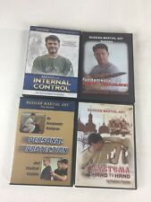 Russian Martial Arts Systema Vladimir Vasiliev 4 Dvd Lot Set