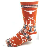 Texas Longhorns NCAA Ugly Christmas Sweater Crew Socks