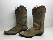 VTG WOMENS ARIAT ATS SNIP TOE COWBOY LEATHER BROWN BOOTS SIZE 6.5 B