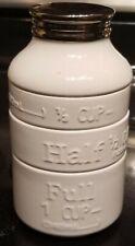 White Ceramic Stackable Milk Bottle Measuring Cups