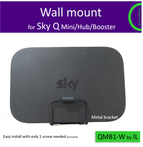 Sky Q mini, hub, booster wall bracket mount. 1 screw easy install. Made of Metal