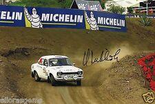 "World Rally Championship Driver Hannu Mikkola Hand Signed Photo 12x8""  AH"