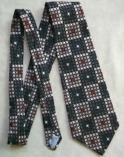 CHARLES OF LONDON VINTAGE WIDE TIE RETRO 1970s MOD DANDY GEOMETRIC ABSTRACT