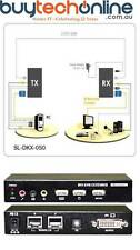 ServerLink DVI KVM Extender over Cat 5-DVI,USB 2.0,Audio & Mic up to 50m