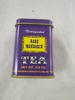 John Wagner Sons Tin Container Purple Rare Mandarin Tea 3/4 oz Empty