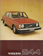 Volvo 244 1976-77 UK Market Single Sheet Sales Brochure DL GL 240-Series