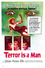 1959 Terror Is a Man Cult Horror movie poster print