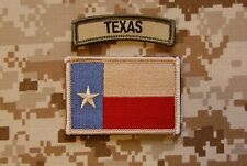 Subdued Texas State Flag & Multicam Texas Tab Set Lone State Patch Navy SEAL